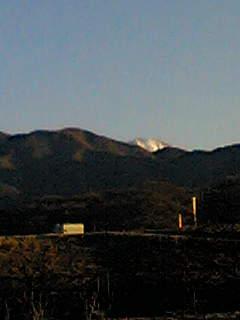 甲府市南部からみえる富士山