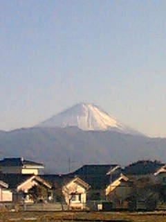 甲府市北部からみた富士山