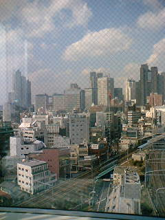 日本共産党本部ビル十一階からみた新宿のビル群