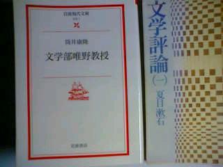 筒井康隆の「文学部唯野教授」と夏目漱石の文学評論
