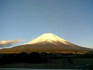 旧上九一色村からみた富士山
