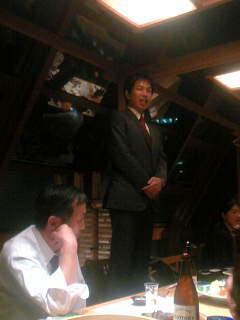 南関東ブロックの交流会であいさつする谷川参院選挙比例区予定候補。