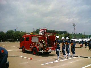 今日は甲府市消防団のポンプ操法大会がありました。