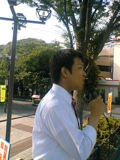 今日は、谷川参院比例区予定候補と行動しました。