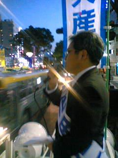甲府駅前で、北朝鮮の核実験について抗議の宣伝行動をしました。