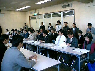 県政予算要求の交渉に参加しました。