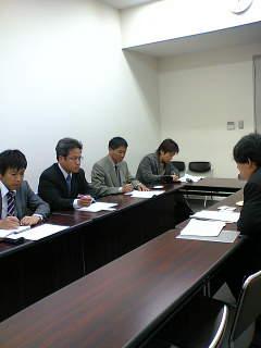 外務省と防衛庁施設庁に北富士演習場の問題で申し入れにいきました。