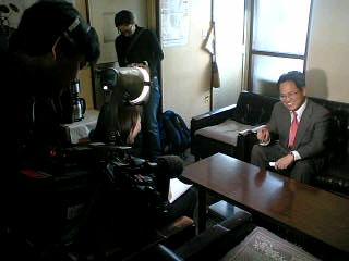 自民党の参院選候補が決まったということでテレビ取材を受けました。