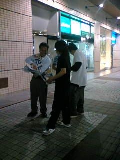青年学生全国縦断キャンペーンで甲府駅前で宣伝しました。その2。
