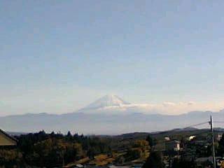 北杜市長坂町から見た富士山