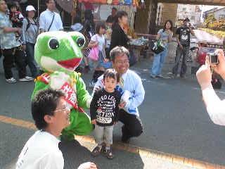 甲府・正の木祭にて