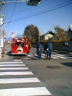 消防団で消火栓などの点検をしました。