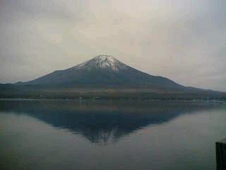 山中湖からみた富士山